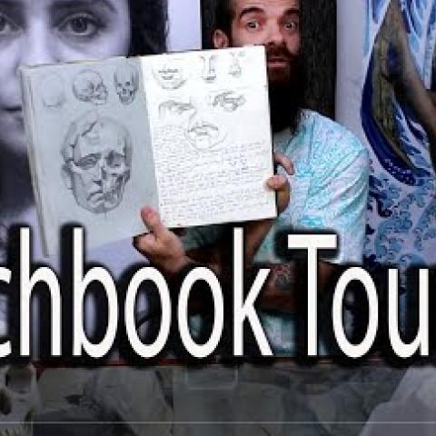 Sketchbook Tour 003. Cesar Santos